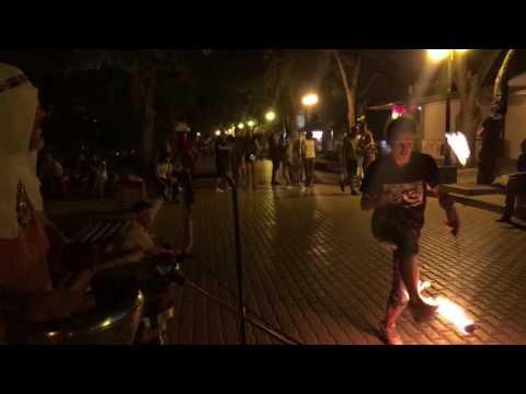 Танцы в Евпатории на улице Фрунзе в Крыму на набережной Крым 2016 Евпатория 28.08.2016 01