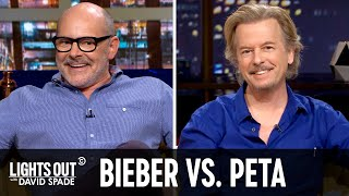 Justin Bieber Owns Some Crazy Animals (feat. Rob Corddry) - Lights Out with David Spade