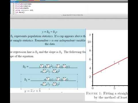 Linear Fit using C++ Program Tutorial : Computer Aided Analysis