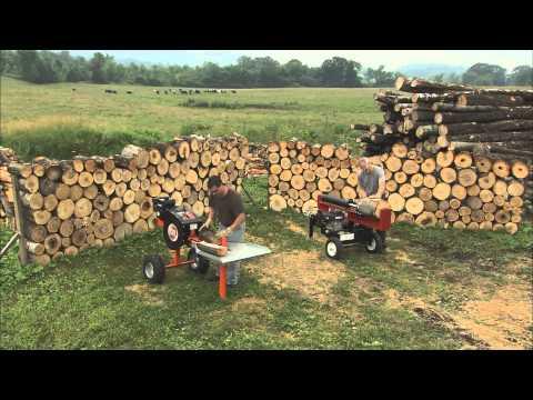 Split Off! DR RapidFire vs. 34-Ton Hydraulic Wood Log Splitter