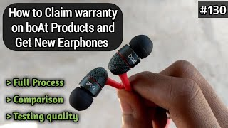 How To Claim Warranty on Boat Basshead 225 Purchased Online Products Amazon, Flipkart in Hindi