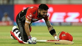 Download IPL 2017 RCB Captain Virat Kohli Hit By Ball During Match Between RCB And GL At Rajkot 3Gp Mp4