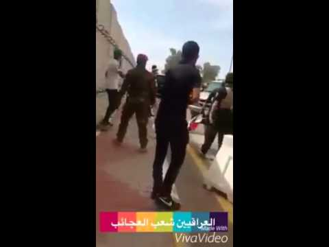 Iraqi members of parliament escaping from the Green Zone 2016