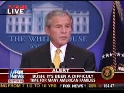President Bush at press conference on oil, economy, and Iraq