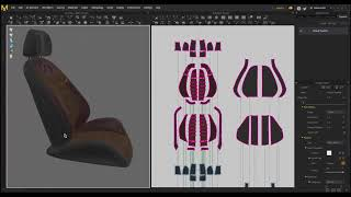 [Marvelous Designer] Creating car seat cover - Time lapse