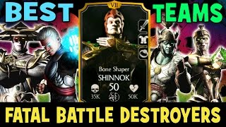 2 BEST SHINNOK TEAMS. Can beat HOMKX and Fatal Battle. Mortal Kombat X Mobile