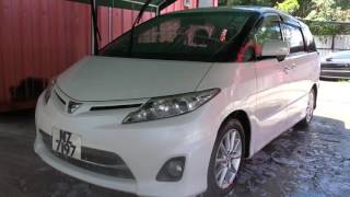 Toyota Estima is coated by Japan iMO 9H coating