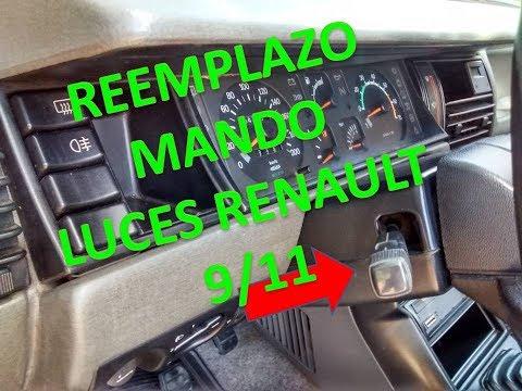 Tutorial cambio mando de luces tablero Renault 9/11