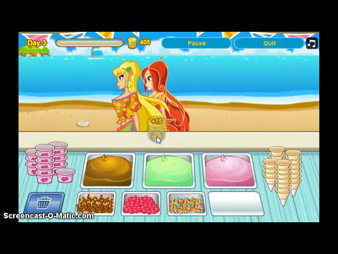 Winx Games Tutorials-Episode 1, Gardenia Ice-Cream Shop