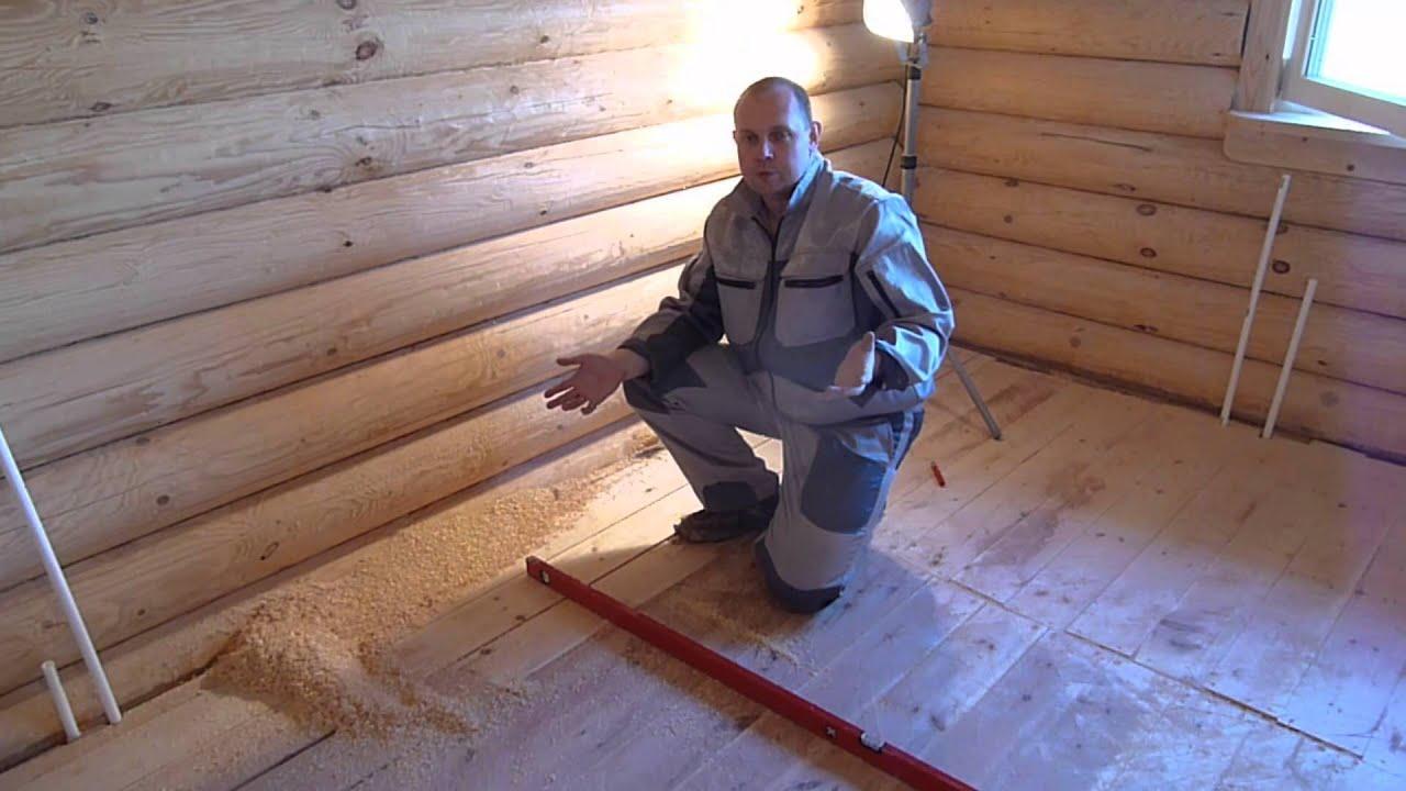 Как сделать ламинат в деревянном доме