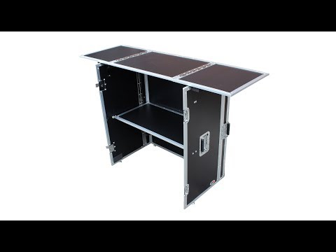 ProX XS-DJSTN DJ Performer portable Table workstation foldable with wheels case Transformer series