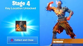 How to UNLOCK STAGE 4 Fortnite The Prisoner Skin KEY LOCATION..