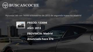 Hyundai I40 en Madrid desde 10000€, mejores ofertas