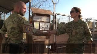 Chefen for Hjemmeværnet, generalmajor Jens Garly, besøger soldaterne i Mali