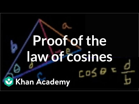 Proof of the law of cosines   Trig identities and examples   Trigonometry   Khan Academy