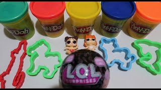 LEARN COLORS PLAY DOH | OPEN LOL SURPRISE BLACK COLOR  | MAKE ANIMALS FROM PLAY DOH