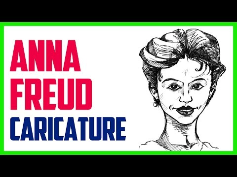 ANNA FREUD CARICATURE | Speed drawing a caricature of Anna Freud