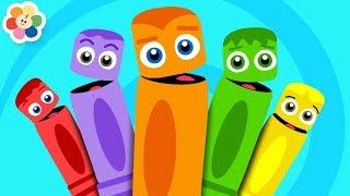 Colores en Español para niños   La Pandilla de Colores   Canciones de Colores de BabyFirst TV