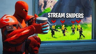 Best Fortnite Stream Sniper Compilation! #10