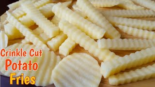 Crinkle Cut Fries | How to make Crinkle Cut Potato Chips | Potato Fries