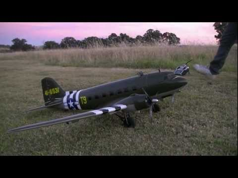 RC PLANE ADVENTURES - C-47 SKY TRAIN - TWIN BRUSHLESS MOTORS FROM DYNAM (HOBBYKING)
