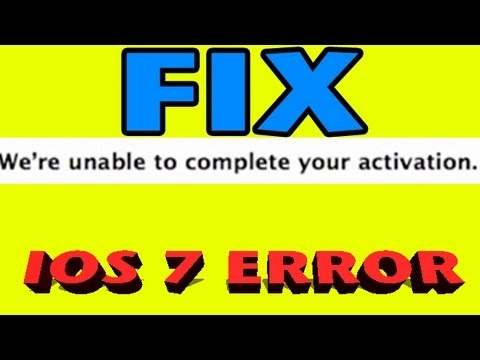 HOW TO: Fix iOS 7 install ERROR We're unable to complete your activation. please register UDID
