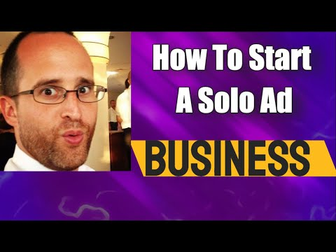 how to start a solo ad business