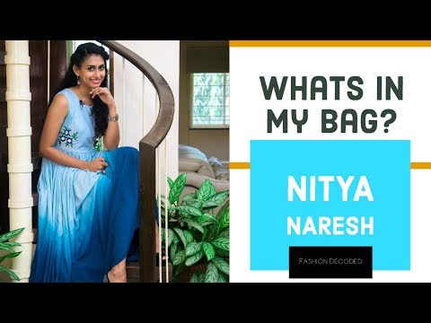 WHATS IN MY BAG with Nitya Naresh