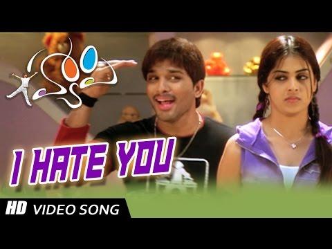 I Hate You Full Video Song    Happy Telugu Video Songs    Allu Arjun, Genelia