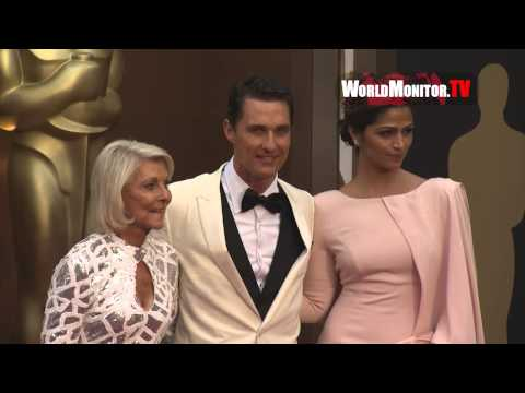 Matthew McConaughey, Camila Alves arrive at 86th Annual Academy Awards