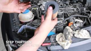 How to Change Your Car's Oil and Oil Filter - 2011 Volkswagen Polo 66TDI 1.6L Diesel CAYA CAYB CAYC