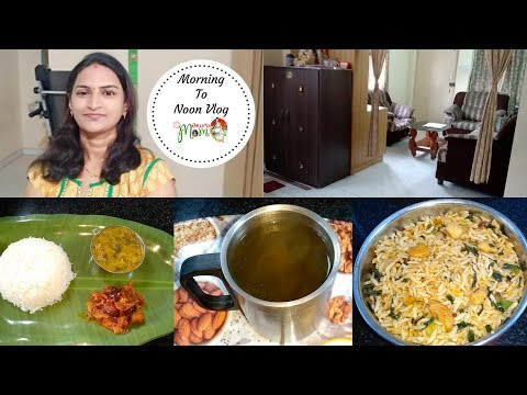 Indian Mom Morning to Afternoon vlog || Homemade Green Tea || Spring Onion Rice