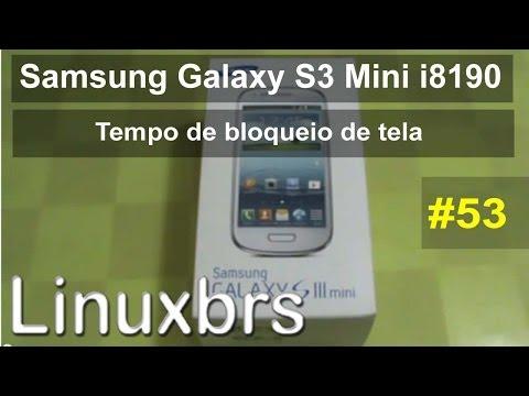 Samsung Galaxy S3 Mini i8190 - Tempo de bloqueio de tela - PT-BR - Brasil