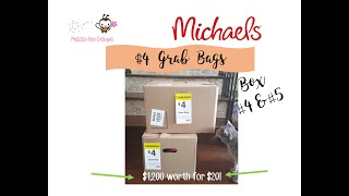 HUGE $4 Michael's Grab Bags Box 4 and 5. GRAND TOTAL of $1,200 for $20!