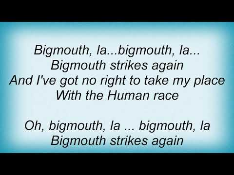 Smiths - Bigmouth Strikes Again Lyrics