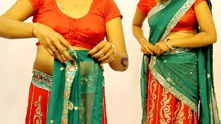 How to Wear a Half Saree and Look Stunning | New look