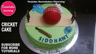 cricket games with bat ball pads pitch birthday cake design ideas decorating tutorial video