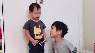 Anh Rio dạy em Mio đếm số và đọc chữ cái - Ly Hai Minh Ha