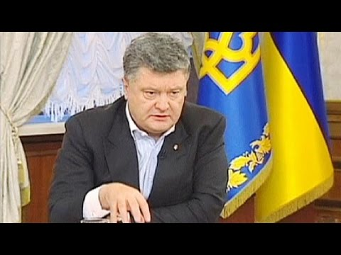 Poroshenko declares war in east Ukraine