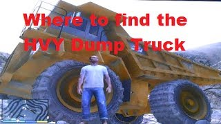 GTA 5 - Where to find the giant HVY Dump Truck + HVY JCB Digger