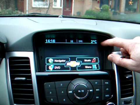 Chevrolet Cruze Gps Navigation Youtube