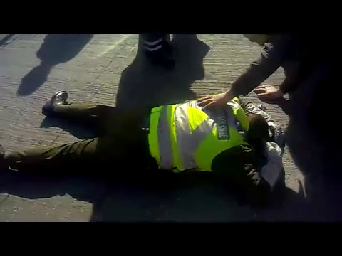 Impactante video de Carabinero atropellado