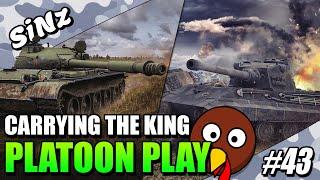 CARRYING THE KING ( ͡° ͜ʖ ͡°) - World of Tanks Console | Platoon Play #43