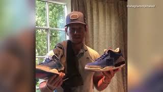 Mark Wahlberg thanks DJ Khaled for his Air Jordan 3 gift