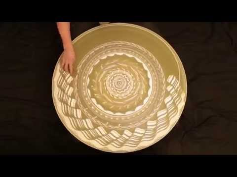 Sand art spinning!