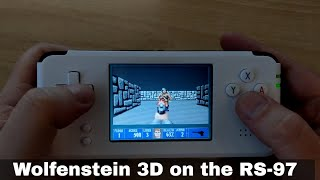 Wolfenstein 3D on the RS-97 emulation and gaming handheld