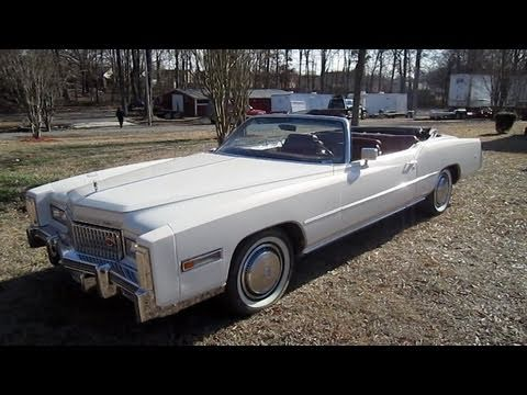 1975 Cadillac Eldorado Convertible Start Up. Exhaust. In Depth Tour. and Test Drive
