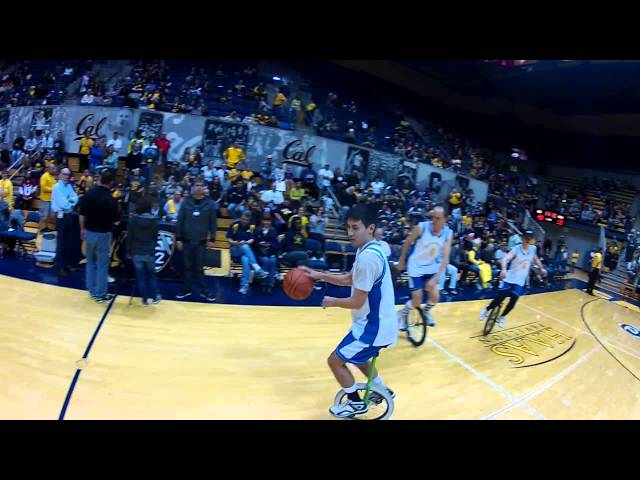 Unicycle Basketball Performance at Cal v. UCLA Game - Pt. 1