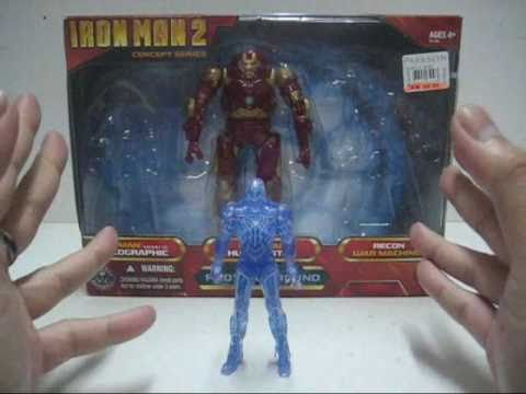 2010 Hasbro Iron Man 2 Proving Ground Pack Part 2 - Iron Man Mark VI Holographic Toy Review