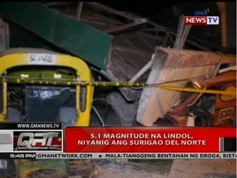 QRT: 5.1 magnitude na lindol, niyanig ang Surigao Del Norte